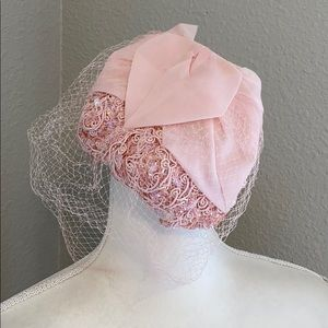 Vintage Pink Hat With Netting